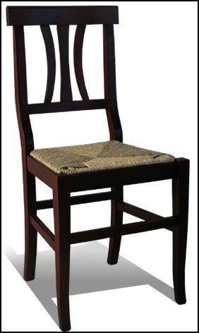 Sedia arte povera noce legno e paglia tavoli sedie for Sedie in arte povera