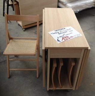 Tavolo richiudibile 4 sedie pieghevoli tavoli sedie for Tavolo consolle con sedie