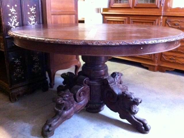 Tavolo Ovale Antico Mobili Vintage Collezionismo